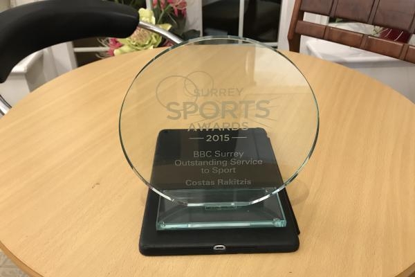 The BBC Surrey Outstanding Service to Sport award
